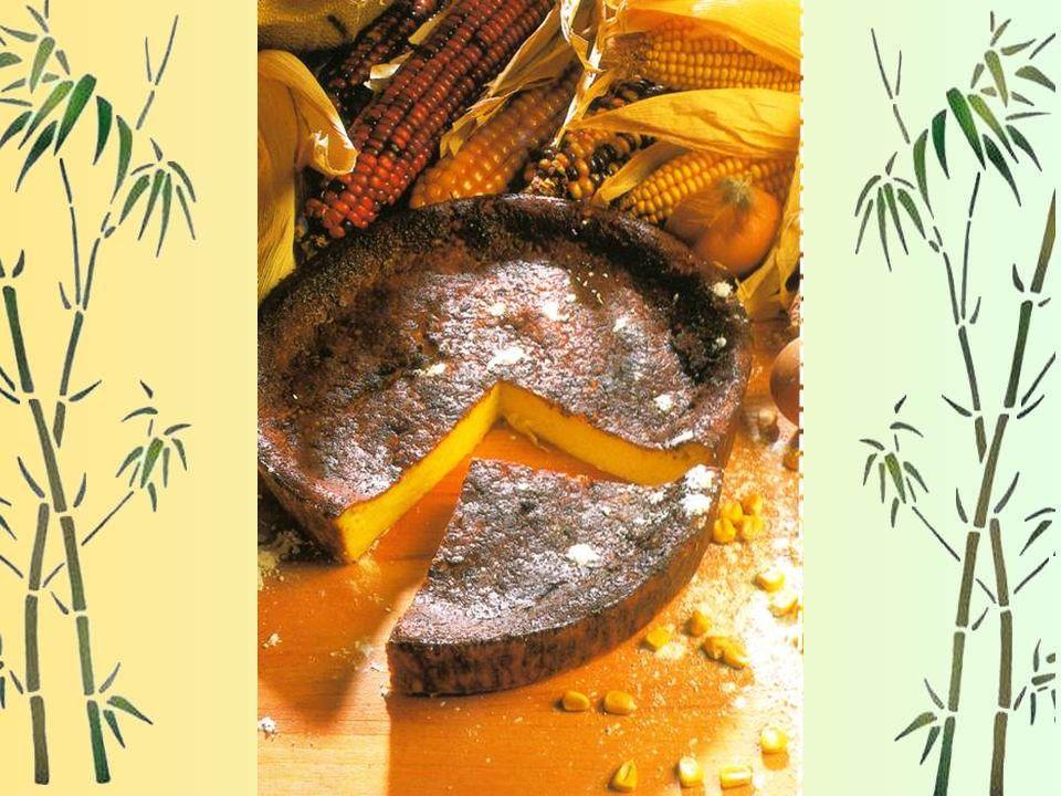 Le Millan Pour 6 personnes : 5 œufs, 220 g de beurre, 180 g de farine de maïs, ½ litre de lait entier, 1 cuillère à soupe deau de fleur doranger, de l