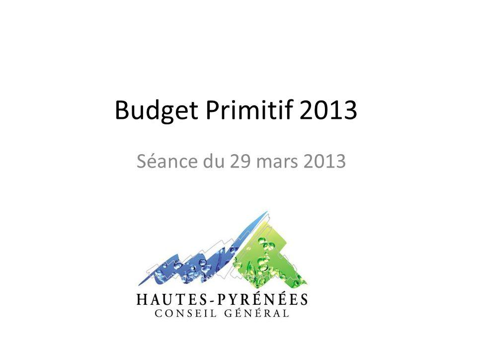 Budget Primitif 2013 Séance du 29 mars 2013