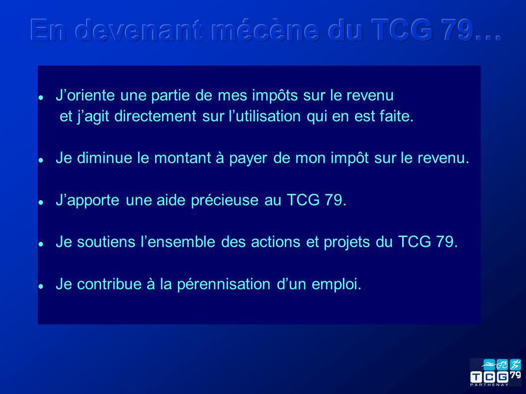 Vous souhaitez devenir mécène du TCG 79 à titre personnel.