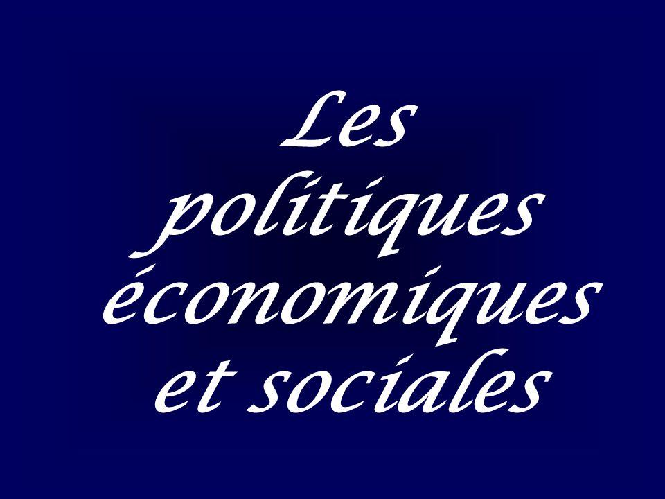 1) Une stabilité de léconomie (Doc 9) Un faible dynamisme : (investissement, consommation) Une faible croissance Un fort taux de chômage Le dilemme des politiques publiques