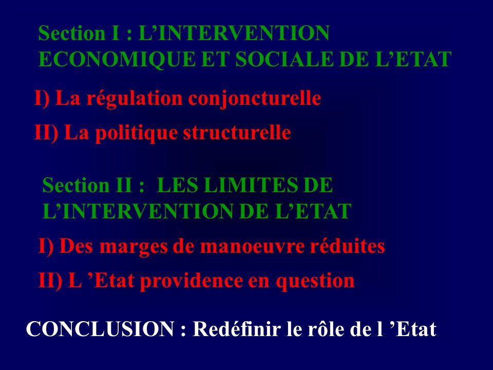 B) De nouvelles contraintes 1) Louverture croissante de léconomie cf.