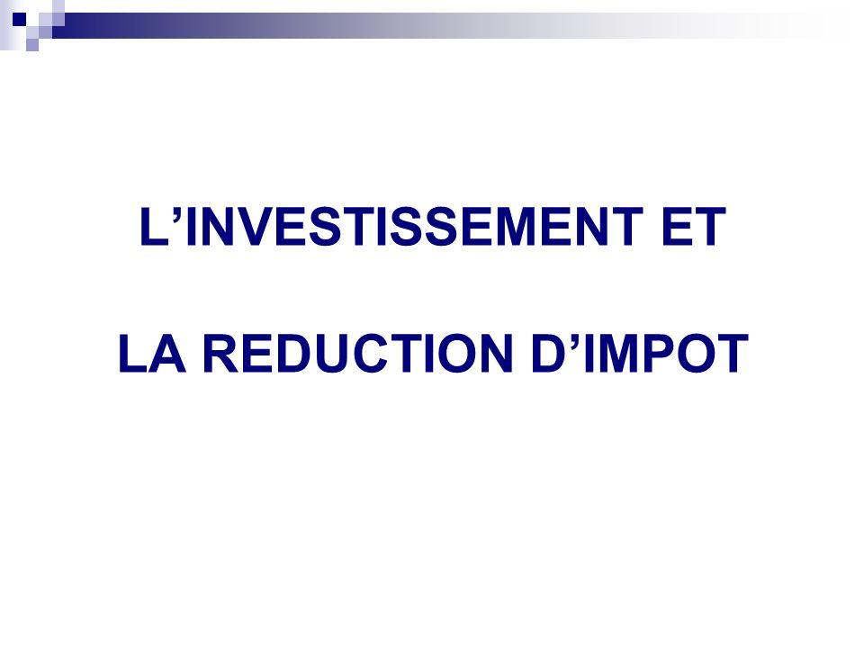 Mise en garde sur les INVESTISSEMENTS REALISES EN 2009
