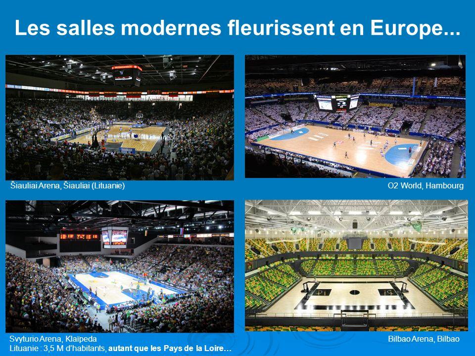 Les salles modernes fleurissent en Europe... Šiauliai Arena, Šiauliai (Lituanie)O2 World, Hambourg Bilbao Arena, Bilbao Svyturio Arena, Klaïpeda Litua