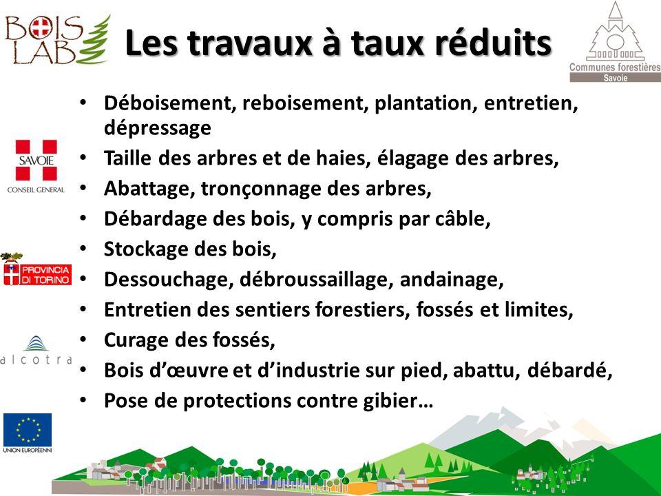 AVEC N° SIREN FORET Les travaux forestiers sont facturés au taux de 5,5% Les travaux à taux réduits Déboisement, reboisement, plantation, entretien, d