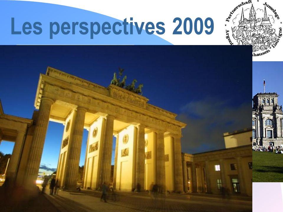 Assemblée Générale 2009 Les perspectives 2009 n « Objectif Berlin » du 5 au 10 avril