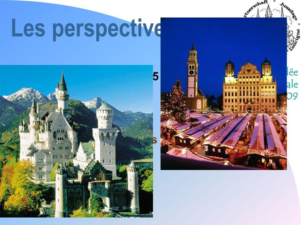 Assemblée Générale 2009 Les perspectives 2009 n « Objectif Berlin » du 5 au 10 avril n Mât de mai (1er mai) n Séjour découverte des 10-12 du 13 au 18 juillet