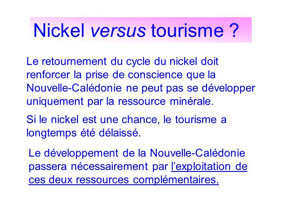 Nickel versus tourisme ? Le retournement du cycle du nickel doit renforcer la prise de conscience que la Nouvelle-Calédonie ne peut pas se développer