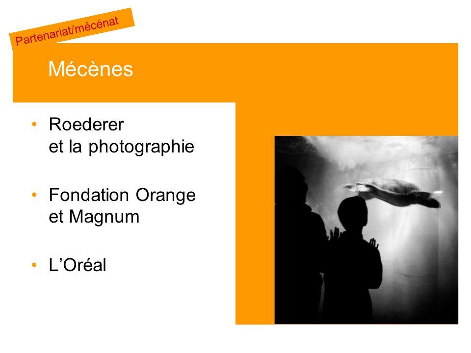 Roederer et la photographie Fondation Orange et Magnum LOréal Mécènes Partenariat/mécénat