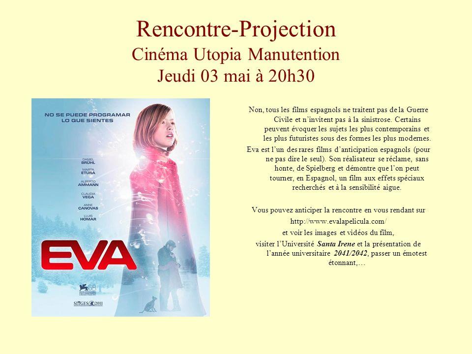Rencontre-Projection Cinéma Utopia Manutention Jeudi 03 mai à 20h30 Non, tous les films espagnols ne traitent pas de la Guerre Civile et ninvitent pas