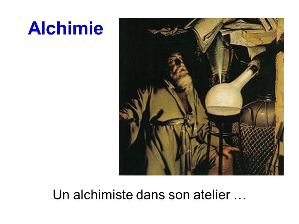 Alchimie Un alchimiste dans son atelier …
