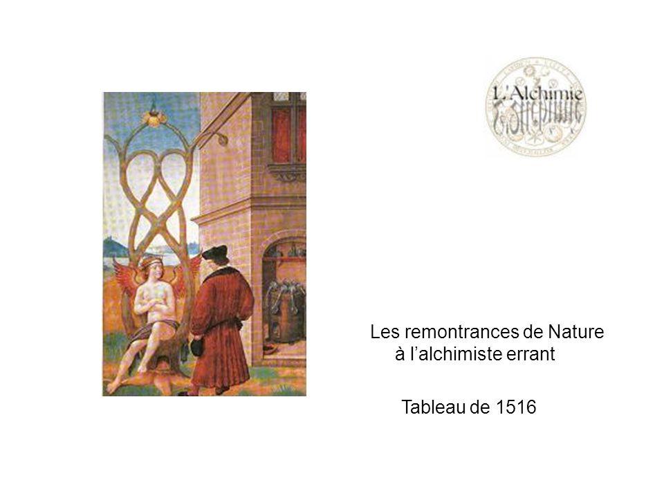 Les remontrances de Nature à lalchimiste errant Tableau de 1516