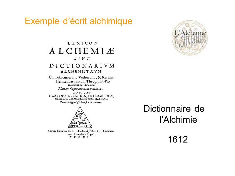 Dictionnaire de lAlchimie 1612 Exemple décrit alchimique