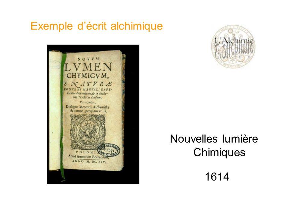Nouvelles lumière Chimiques 1614 Exemple décrit alchimique