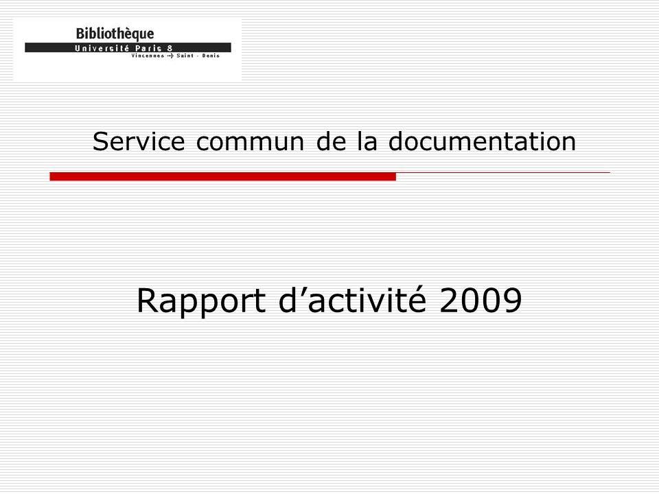Les faits marquants de 2009 Le mouvement social Le réaménagement des magasins 2 et 3 Louverture de laccès distant aux ressources documentaires La perte de lIFU