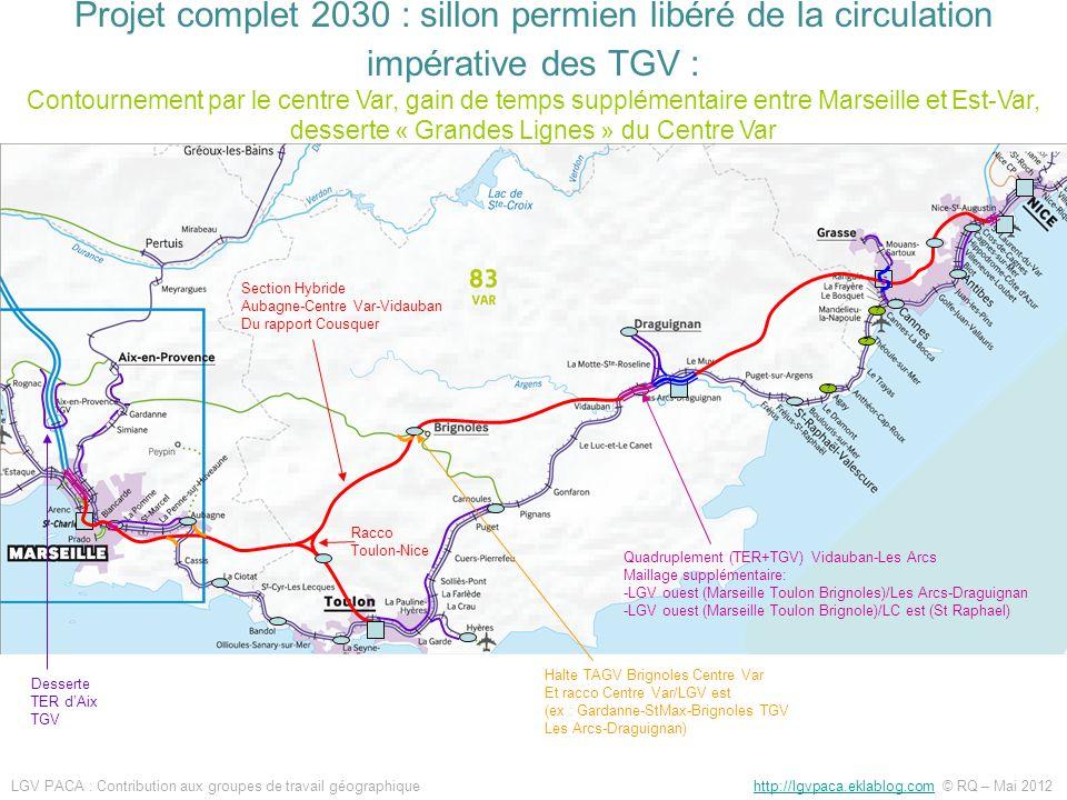 ? ? ? Desserte TER dAix TGV Section Hybride Aubagne-Centre Var-Vidauban Du rapport Cousquer Halte TAGV Brignoles Centre Var Et racco Centre Var/LGV es