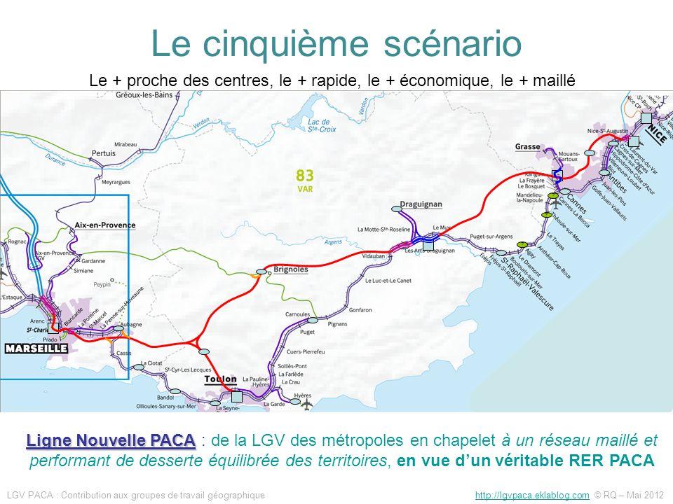 ? ? ? Ligne Nouvelle PACA Ligne Nouvelle PACA : de la LGV des métropoles en chapelet à un réseau maillé et performant de desserte équilibrée des terri