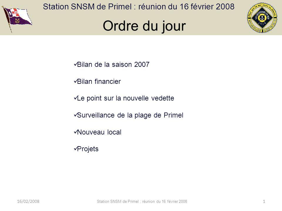 Station SNSM de Primel : réunion du 16 février 2008 16/02/2008 Station SNSM de Primel : réunion du 16 février 2008 12 Répartition des recettes 49 220,54 Bilan financier 2007
