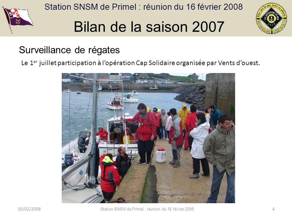 Station SNSM de Primel : réunion du 16 février 2008 16/02/2008 Station SNSM de Primel : réunion du 16 février 2008 5 Bilan de la saison 2007 Juillet - août 2007 : Les marchés de Plougasnou