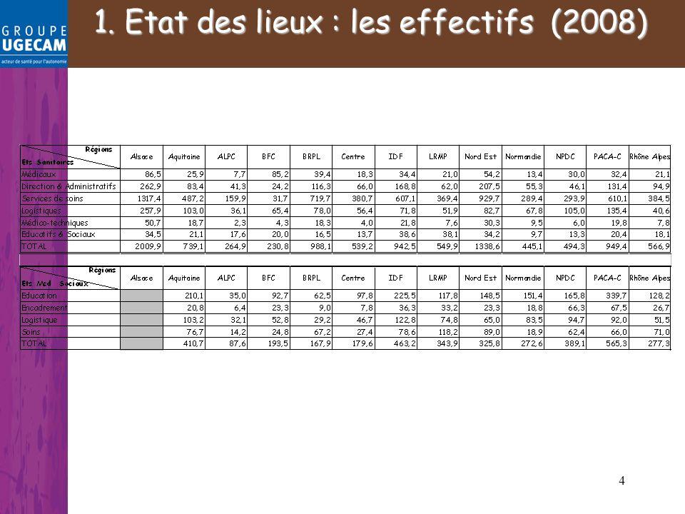 4. 1. Etat des lieux : les effectifs (2008)