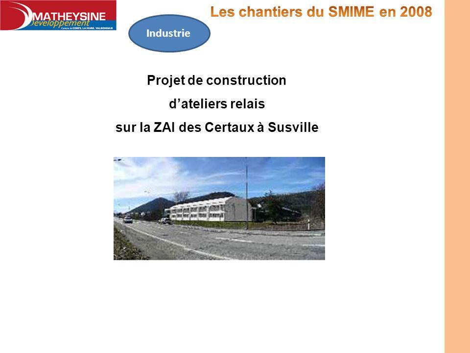 Projet de construction dateliers relais sur la ZAI des Certaux à Susville