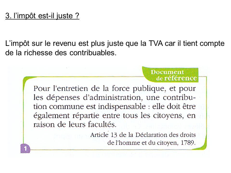 Qui paie la TVA ? A quelle occasion ? Quel est le taux appliqué ? Cet impôt est-il juste ?