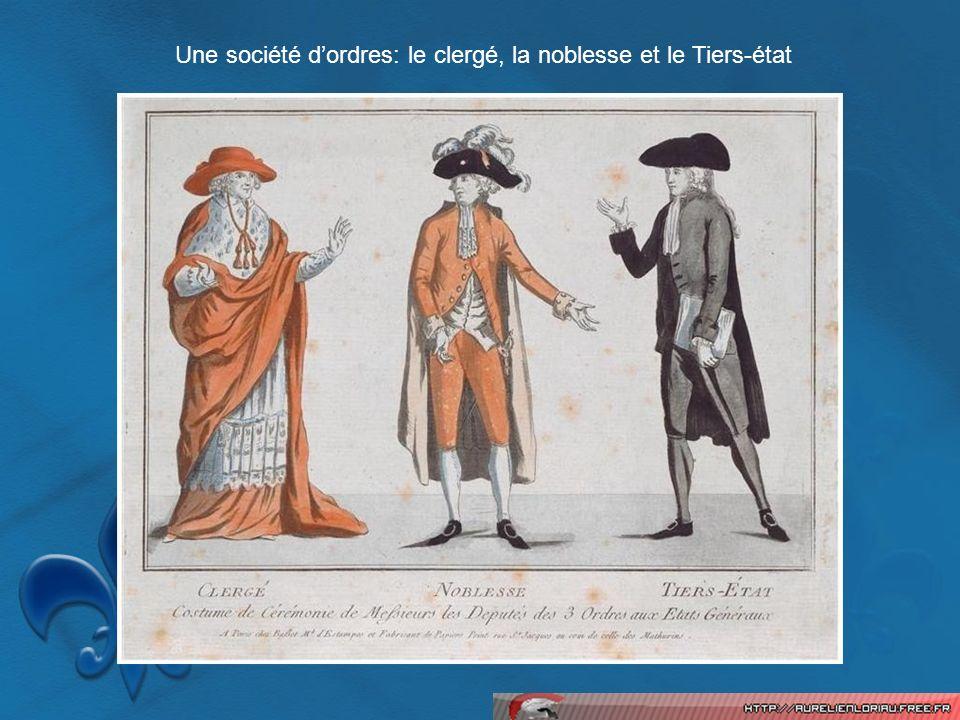 Une société dordres: le clergé, la noblesse et le Tiers-état