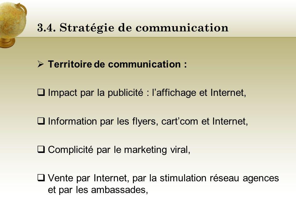 3.4. Stratégie de communication Positionnement : Lécotourisme. Concept : Faire découvrir une nouvelle forme de tourisme : lécotourisme. Signature inst