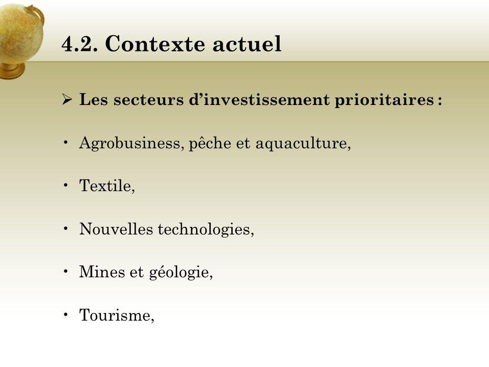 4.2. Analyse stratégique Programme de croissance accéléré : Le Sénégal dispose de nombreux atouts favorables à l'implantation d'activités économiques