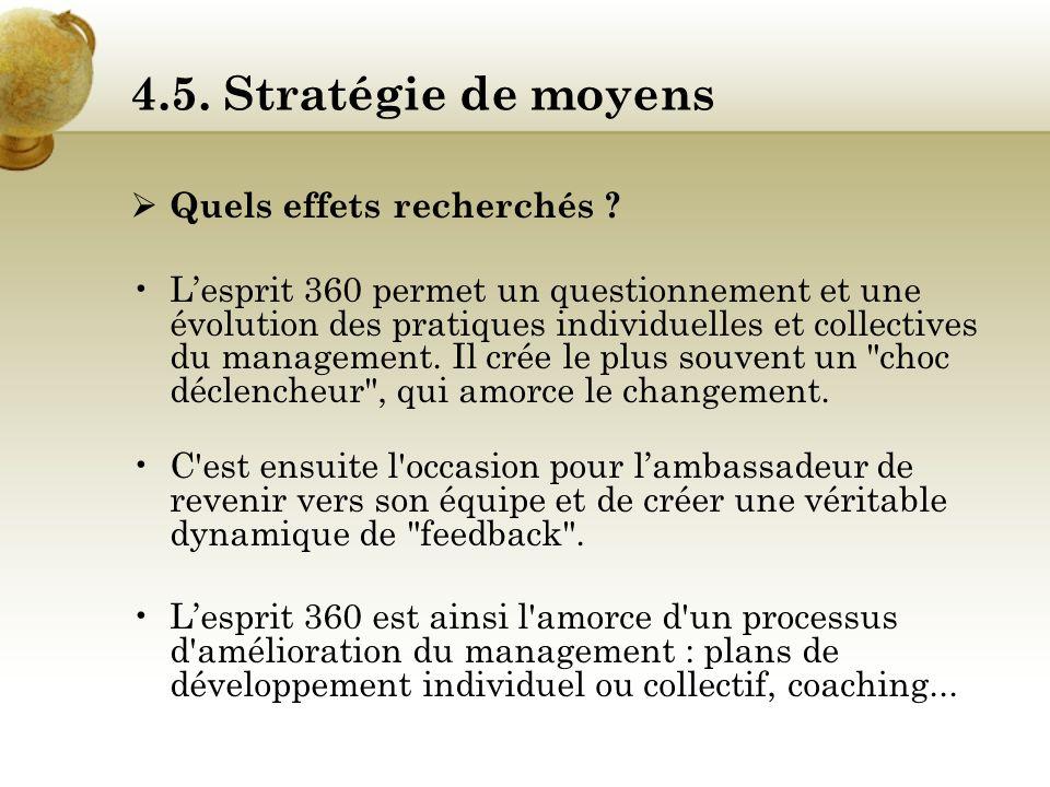 4.5. Stratégie de moyens Les ambassades : Avant toute chose, il convient de former le personnel dambassade afin quil puisse convenablement conseiller,