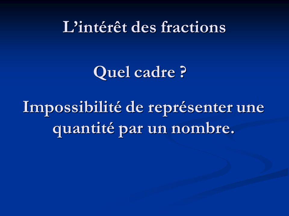 Les limites des travaux sur les fractions à lécole primaire.