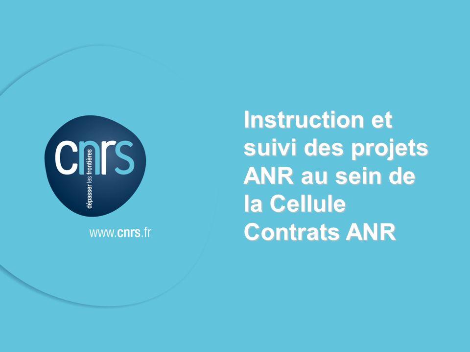 MERCI POUR VOTRE ATTENTION celluleANR@dr17.cnrs.fr