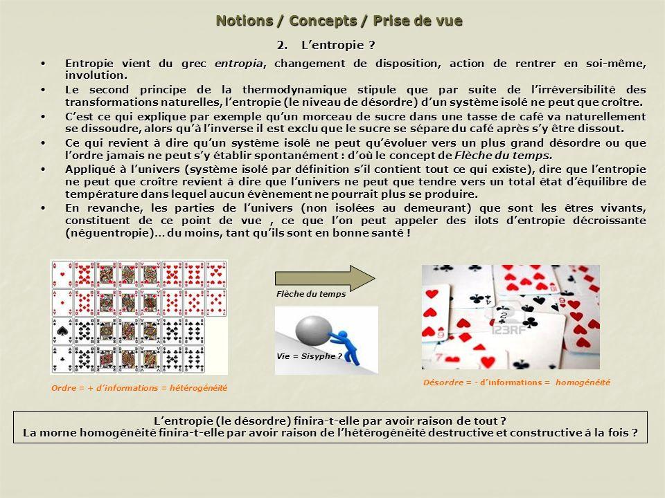 Notions / Concepts / Prise de vue 2.Lentropie .