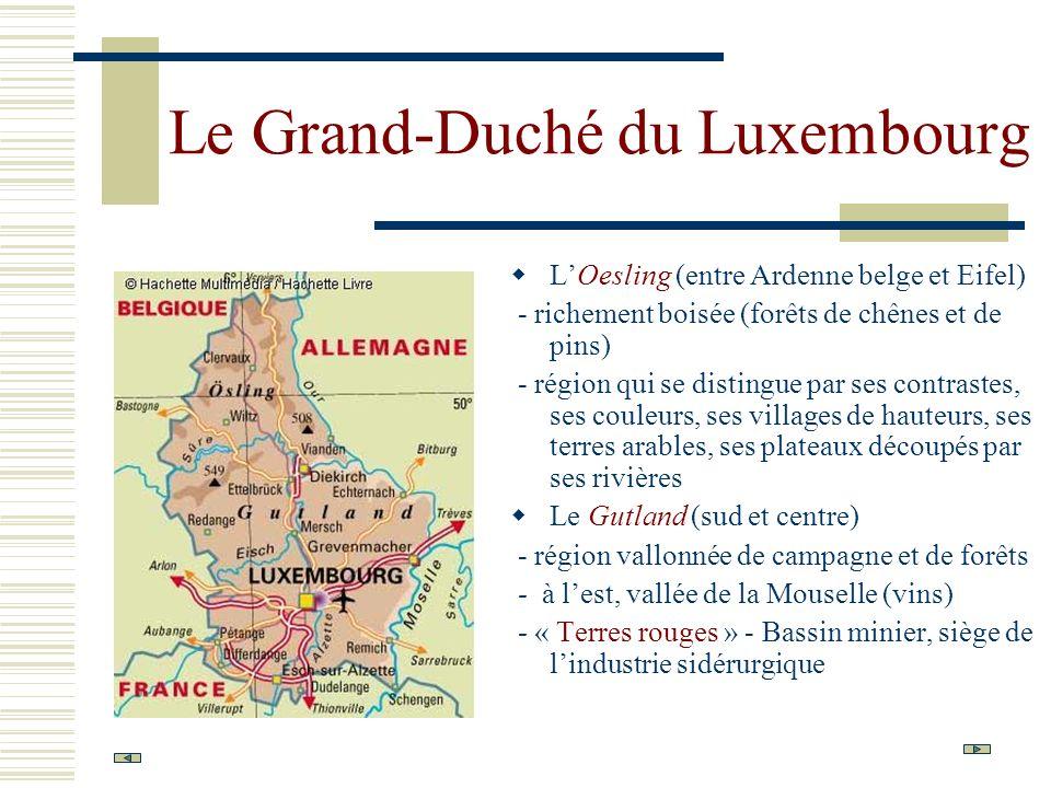 Le Grand-Duché du Luxembourg LOesling (entre Ardenne belge et Eifel) - richement boisée (forêts de chênes et de pins) - région qui se distingue par se