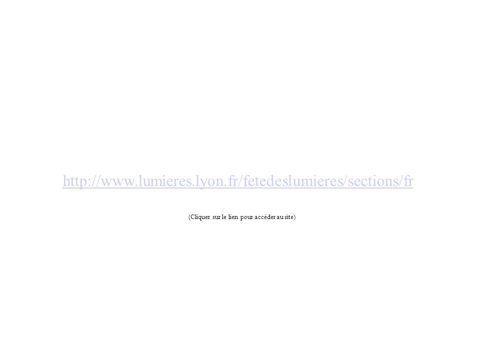 http://www.lumieres.lyon.fr/fetedeslumieres/sections/fr (Cliquer sur le lien pour accéder au site)