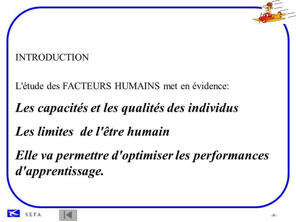 3 S E F A FACTEURS PHYSIOLOGIQUES