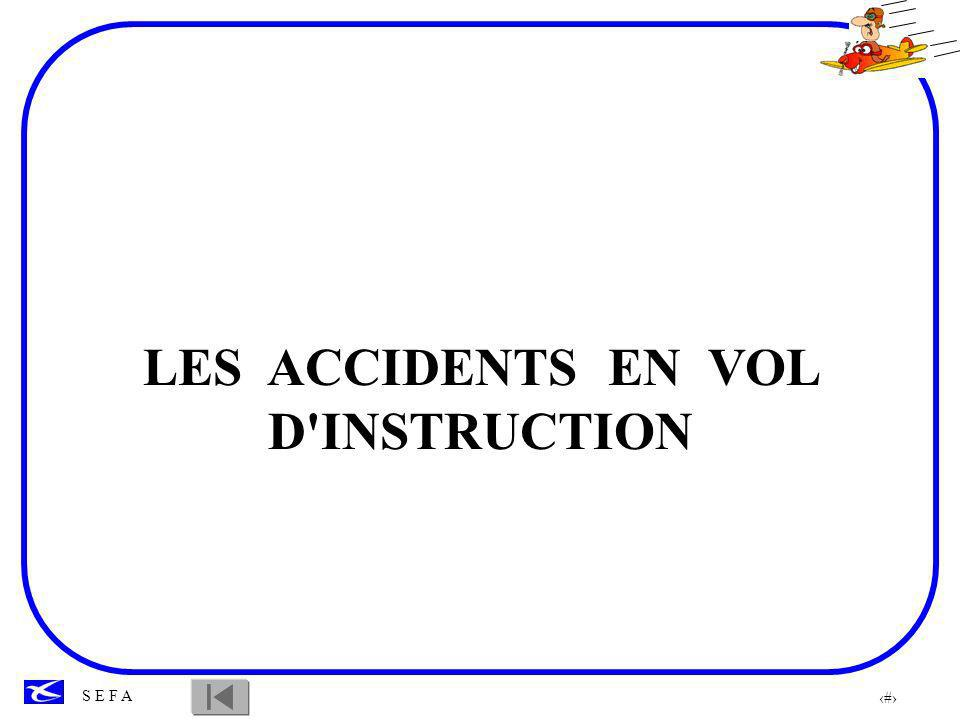 96 S E F A LES ACCIDENTS EN VOL D'INSTRUCTION