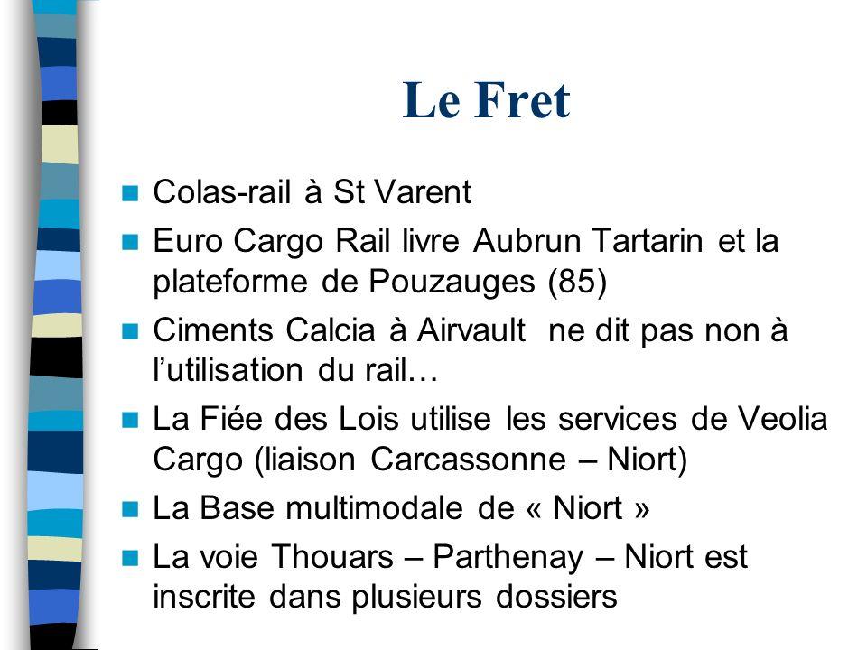 Le Fret Colas-rail à St Varent Euro Cargo Rail livre Aubrun Tartarin et la plateforme de Pouzauges (85) Ciments Calcia à Airvault ne dit pas non à lut