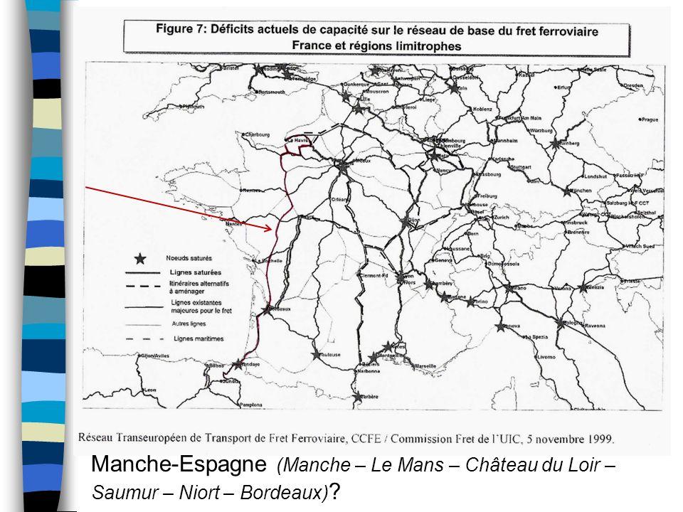 Manche-Espagne (Manche – Le Mans – Château du Loir – Saumur – Niort – Bordeaux) ?