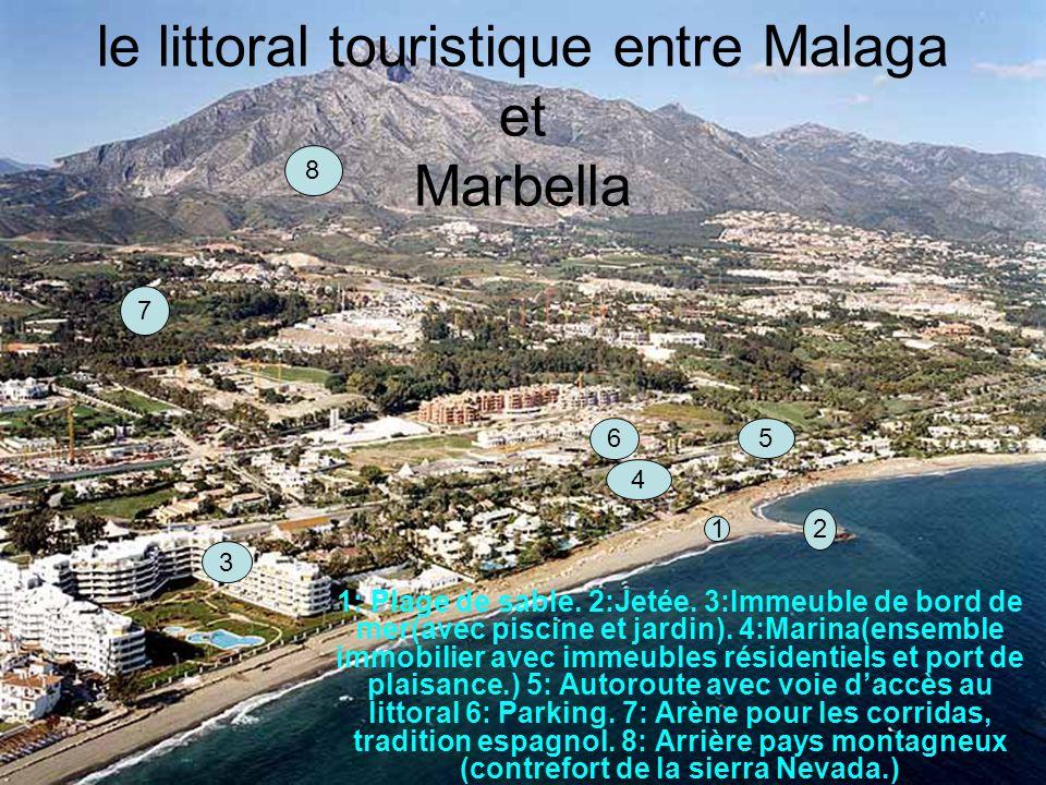 le littoral touristique entre Malaga et Marbella 1: Plage de sable.