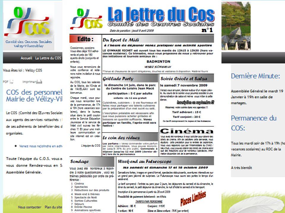 Communication Site du COS La Lettre du COS