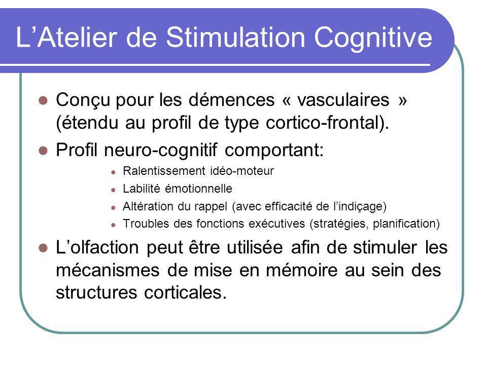 LAtelier de Stimulation Cognitive Conçu pour les démences « vasculaires » (étendu au profil de type cortico-frontal).