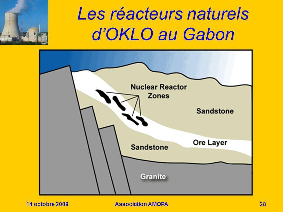 14 octobre 2009Association AMOPA28 Les réacteurs naturels dOKLO au Gabon