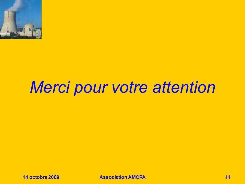 14 octobre 2009Association AMOPA44 Merci pour votre attention