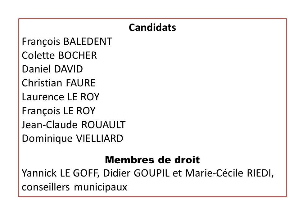 ELECTION DES MEMBRES DU CA Assemblée Générale 2011