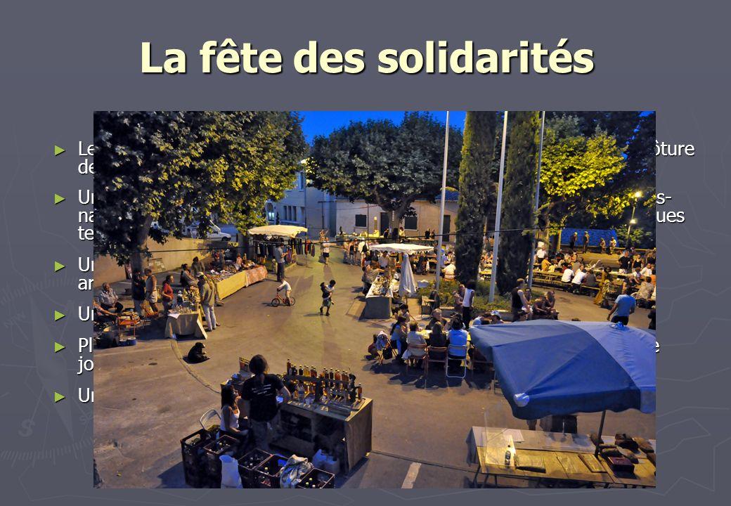La fête des solidarités Le Centre Social Municipal a donné un nouveau visage à sa fête de clôture des activités le dernier samedi de juin. Le Centre S
