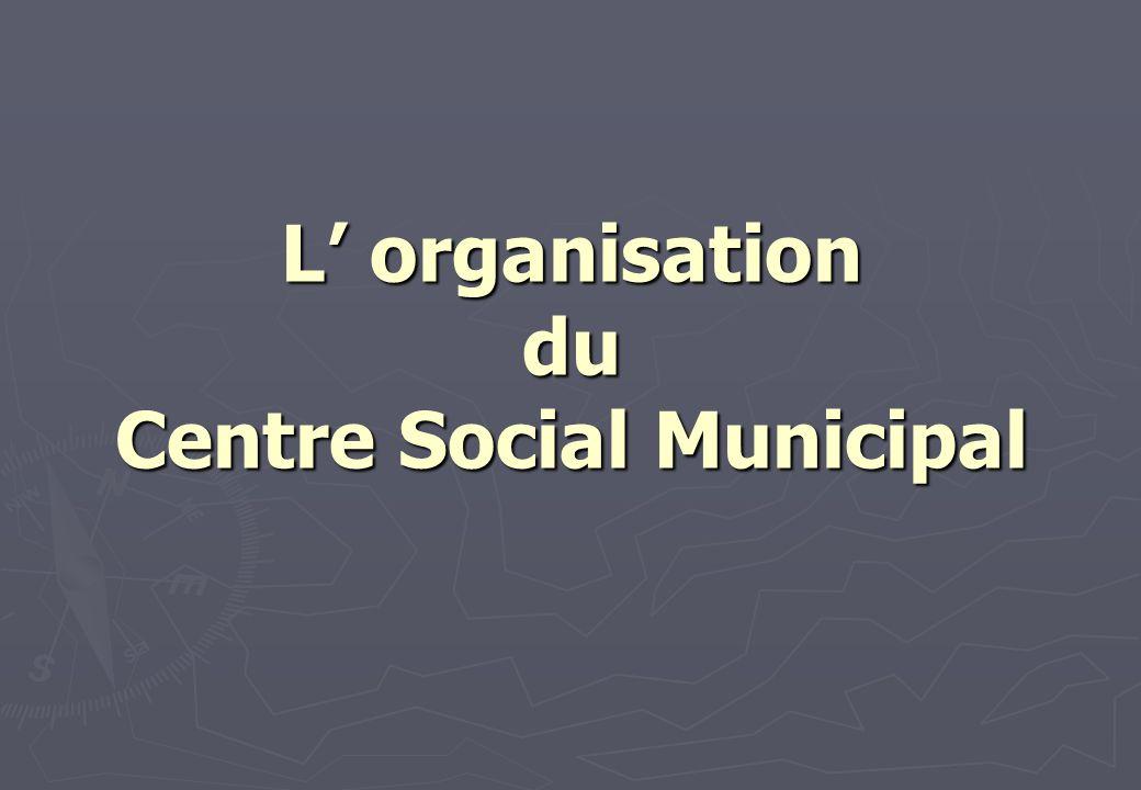 L organisation du Centre Social Municipal