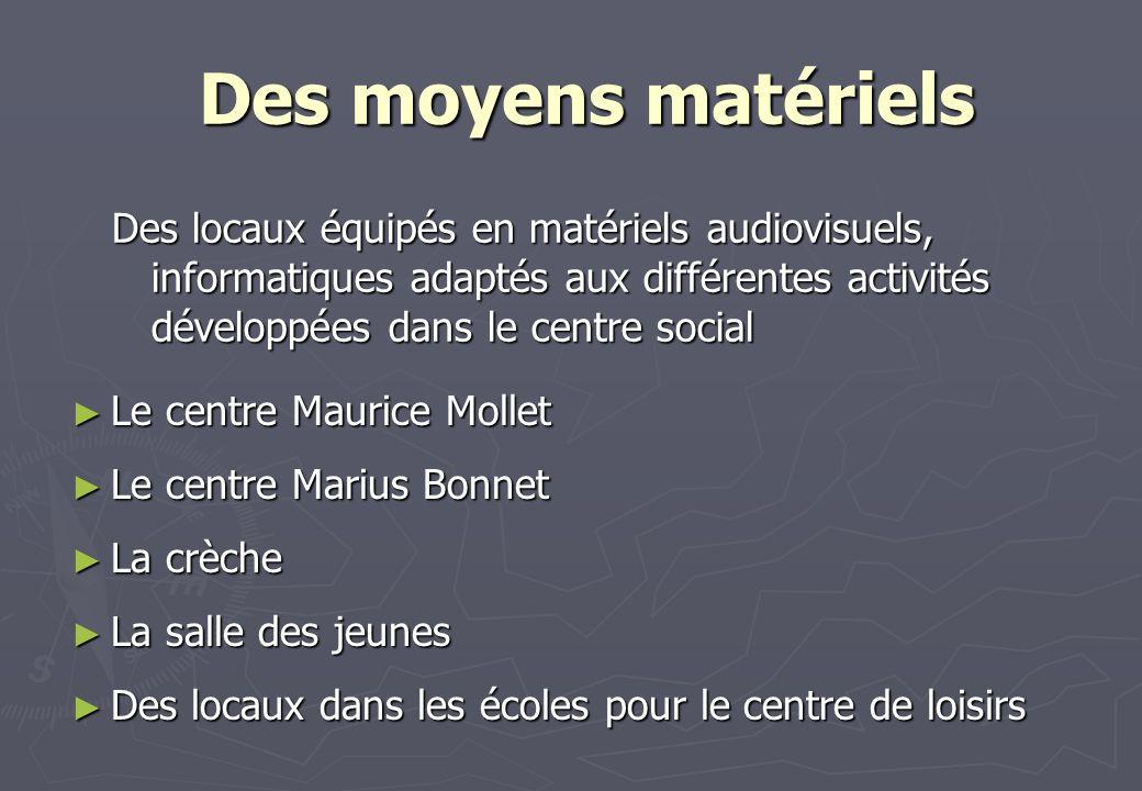 Le centre Maurice Mollet Le centre Maurice Mollet Le centre Marius Bonnet Le centre Marius Bonnet La crèche La crèche La salle des jeunes La salle des