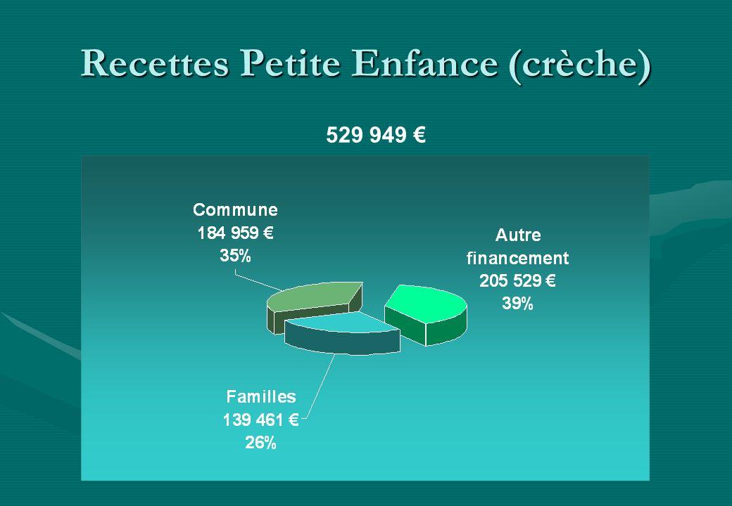 Recettes Petite Enfance (crèche) 529 949