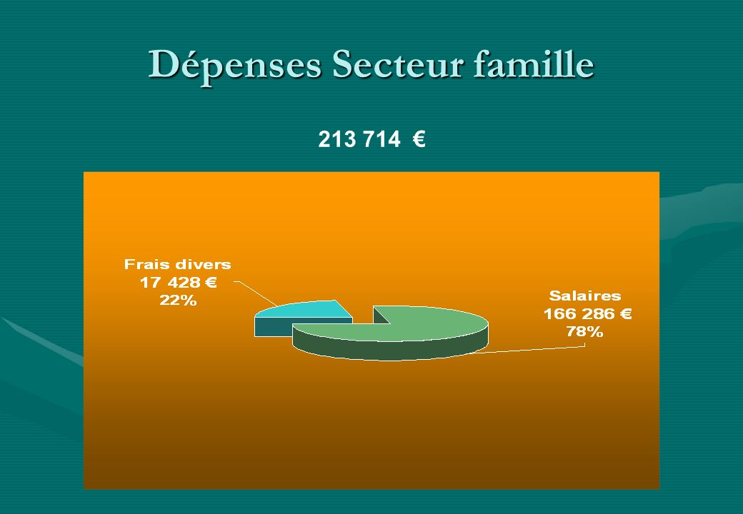Dépenses Secteur famille 213 714