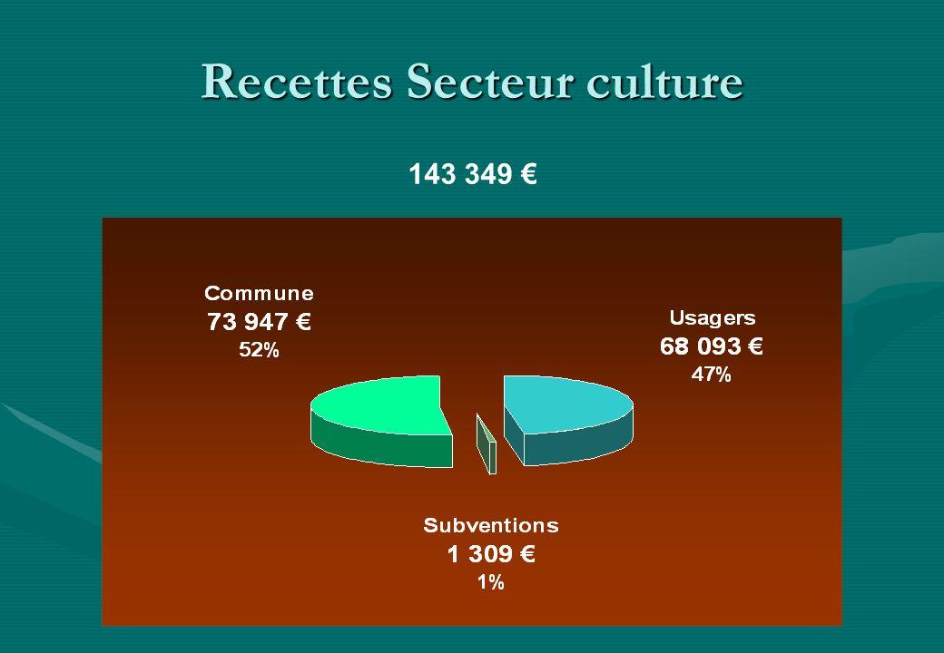 Recettes Secteur culture 143 349